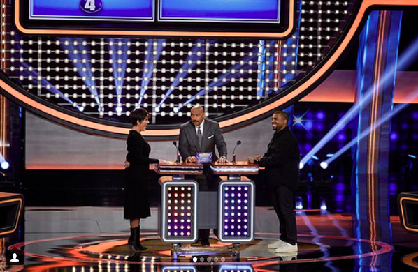 The Kardashians Go Up Against The Wests In New Episode Of Celebrity Family Feud!